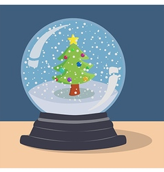 Xmas Tree Snow Ball vector image