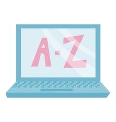 A z computer icon cartoon style vector