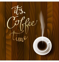 Abstract coffee design vector image