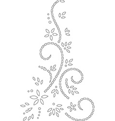 Abstract outline stencil design vector image vector image