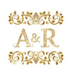 Ar vintage initials logo symbol letters a r vector