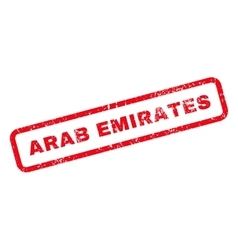 Arab emirates text rubber stamp vector