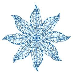 Blue paisley mandala vector