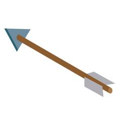 bow arrow isolated 3d vector image