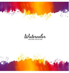 bright watercolor background design vector image vector image