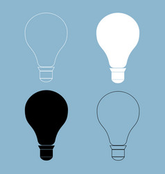 Bulb the black and white color icon vector