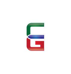 cg letter logo vector image vector image