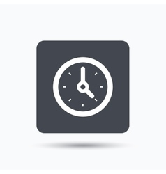 Clock icon Mechanical watch sign vector image vector image