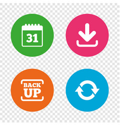 download and backup signs calendar rotation vector image