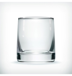 Empty glass with transparency vector image vector image