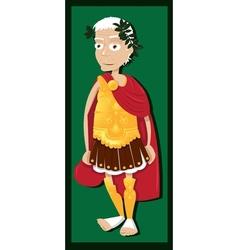 Funny Julius Caesar vector image vector image