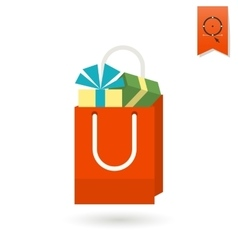 Gift in a Shopping Bag vector image