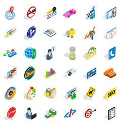 headset icons set isometric style vector image