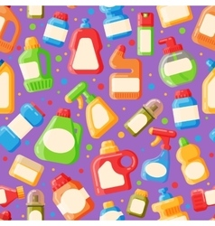 Home clean bottle seamless pattern vector image vector image