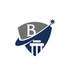 Justice law initial b vector