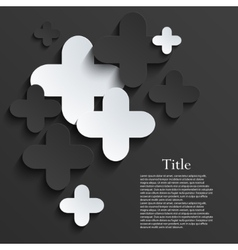 modern pus or cross background template vector image vector image