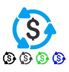 Money circulation flat icon vector