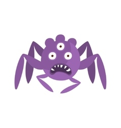 Purple spider shaped aggressive malignant bacteria vector