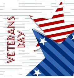 Stars with usa flag in style creative vector