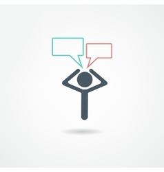 thoughts icon vector image