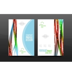 Wave pattern a4 annual report template vector