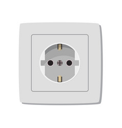 white electric socket vector image
