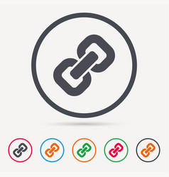 Chain icon internet web hyperlink sign vector