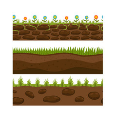 cross section ground slice isolated grownd piece vector image