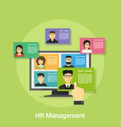 human resource management vector image