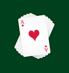 Ace of hearts vector