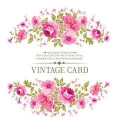 Luxurious color rose card vector