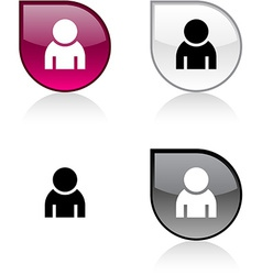 Person button vector