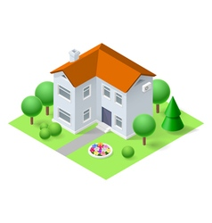 Isometric home vector