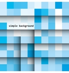Abstract colored squares on a light background vector