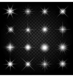 Stars bursts with sparkles and glowing light vector image