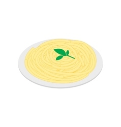 Italian pasta icon isometric 3d style vector