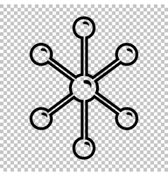Molecule sign line icon vector