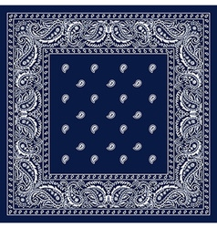 Blue bandanna vector
