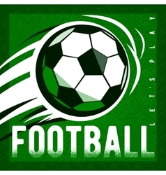 Soccer football green field background with ball vector