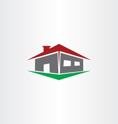 Logo house real estate icon vector