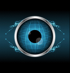 Abstract eye globe light line element shape vector