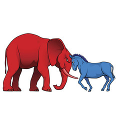 american political parties stand-off vector image