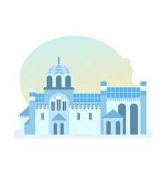 Beautiful monastery of diocese of serbian church vector