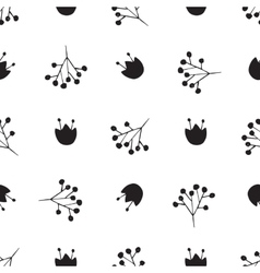 Black and white abstract pattern vector image