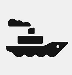 black color steamship icon vector image vector image