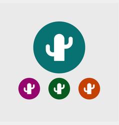 cactus icon simple vector image