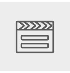 Clapboard thin line icon vector
