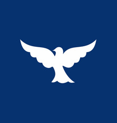 Dove the symbol of the holy spirit vector