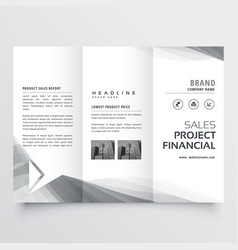 Elegant business tri-fold brochure design with vector