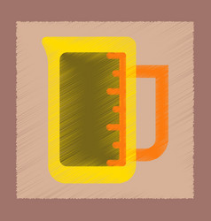 Flat shading style icon measuring cup coffee vector